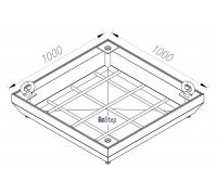 Ревизионный сантехнический люк-невидимка 1000х1000