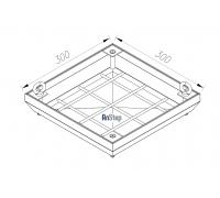 Ревизионный сантехнический люк-невидимка 300х300