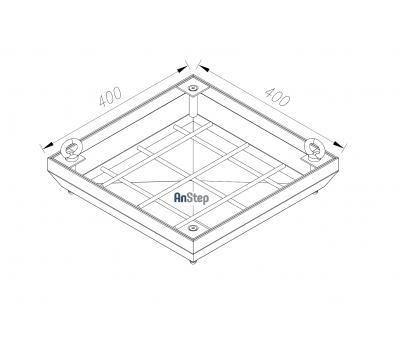 Ревизионный сантехнический люк-невидимка 400х400