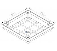 Ревизионный сантехнический люк-невидимка 500х500