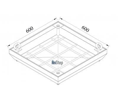 Ревизионный сантехнический люк-невидимка 600х600