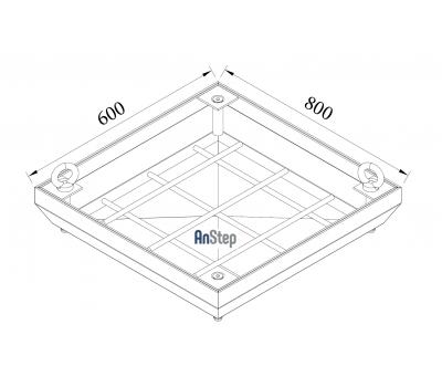 Ревизионный сантехнический люк-невидимка 600х800