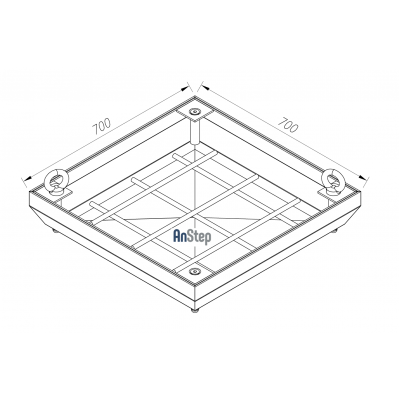 Ревизионный сантехнический люк-невидимка 700х700