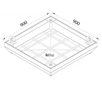 Ревизионный сантехнический люк-невидимка 900х900