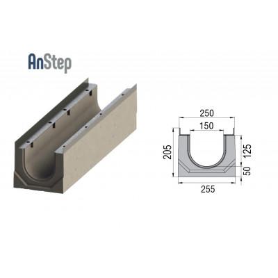 Лоток водоотводный бетонный ЛВК ВМ Sir 150 № 0/010