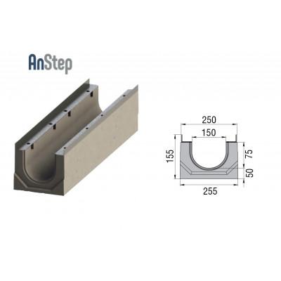 Лоток водоотводный бетонный ЛВК ВМ Sir 150 № 0