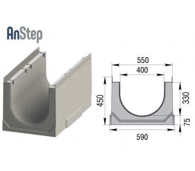 Лоток водоотводный бетонный ЛВК ВМ Sir 400 № 10/0