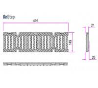Решетка чугунная щелевая Sir 100 E600