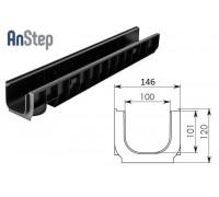 Лоток водоотводный Standart ЛВ-10.14,5.12 - пластиковый