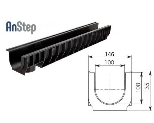 Лоток водоотводный Standart ЛВ-10.14,5.13,5 - пластиковый