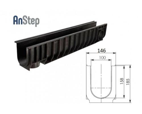 Лоток водоотводный Standart ЛВ-10.14,5.18,5 - пластиковый