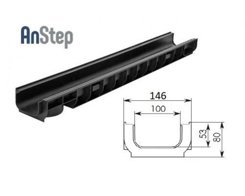 Лоток водоотводный Standart ЛВ-10.14,5.08 - пластиковый