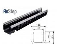 Лоток водоотводный Standart Plus ЛВ-10.14,5.12 - пластиковый (усиленный)