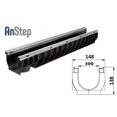 Лоток водоотводный Standart Plus ЛВ-10.14,5.13,5 - пластиковый (усиленный)