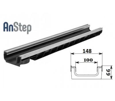 Лоток водоотводный Standart Plus ЛВ-10.14,5.06 - пластиковый (усиленный)
