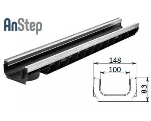 Лоток водоотводный Standart Plus ЛВ-10.14,5.08 - пластиковый (усиленный)