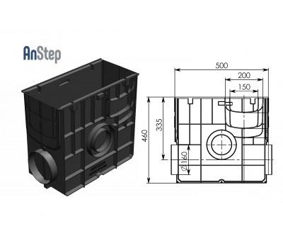 Пескоуловитель Standart ПУ-20.24,6.46 - пластиковый универсальный для лотков пластиковых DN150 и DN200