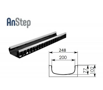 Лоток водоотводный Standart Plus ЛВ-20.24,6.10 - пластиковый (усиленный)