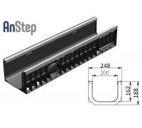 Лоток водоотводный Standart Plus ЛВ-20.24,6.18,5 - пластиковый (усиленный)