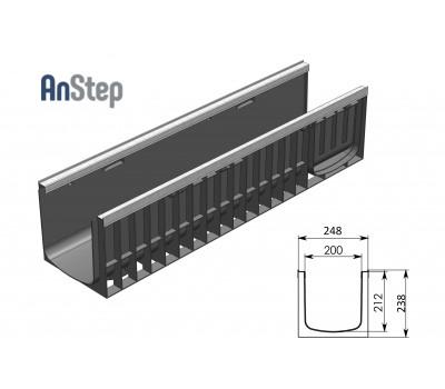 Лоток водоотводный Standart Plus ЛВ-20.24,6.23,5 - пластиковый (усиленный)