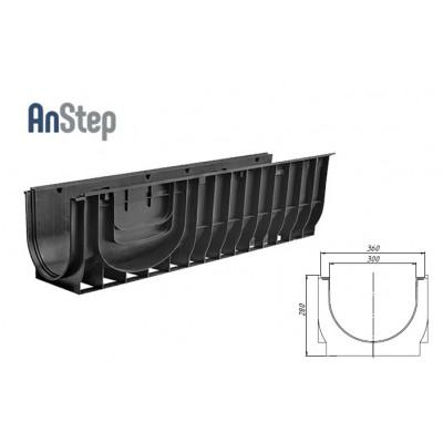 Лоток водоотводный Standart ЛВ-30.38.28 - пластиковый