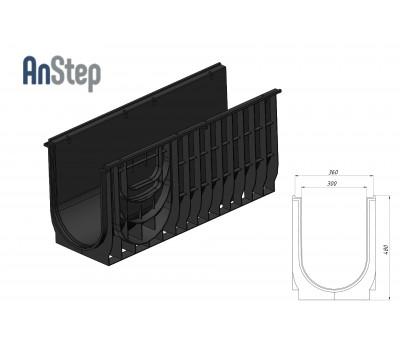 Лоток водоотводный Standart ЛВ-30.38.48 - пластиковый