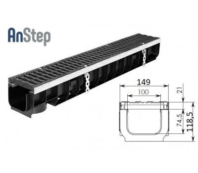 Лоток водоотводный Super ЛВ -10.14,5.12 - пластиковый, кл. Е600