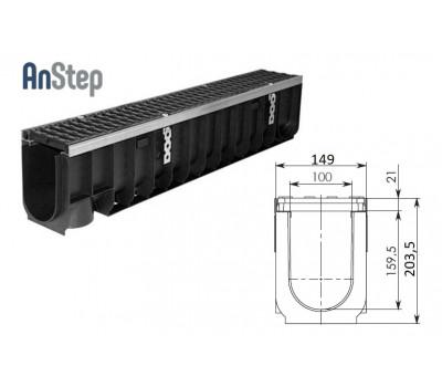 Лоток водоотводный Super ЛВ -10.14,5.20,5 - пластиковый, кл.Е600