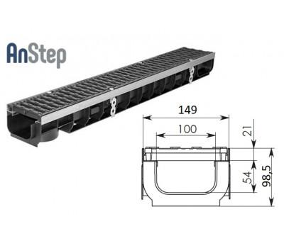 Лоток водоотводный Super ЛВ -10.14,5.10 - пластиковый, кл. Е600