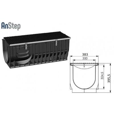 Лоток водоотводный Super ЛВ -30.38.39,6 - пластиковый, кл. Е600