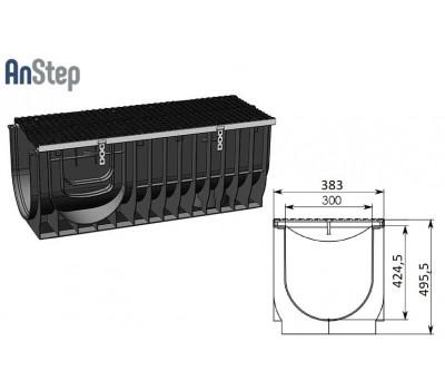 Лоток водоотводный Super ЛВ-30.38.49,6 - пластиковый, кл. Е600