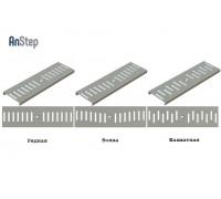 Решетка оцинкованная щелевая Light 100 рисунок: рядная/ волна/ шахматный, A15