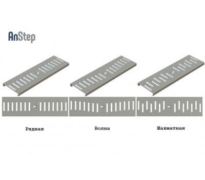 Решетка оцинкованная щелевая Sir 100 рисунок: рядная/ волна/ шахматнный А15