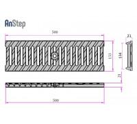 Решетка чугунная щелевая Light 100 E600