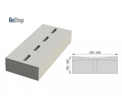 Решетка бетонная лотковая 300 А15-Е600