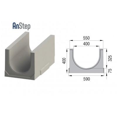 Лоток водоотводный бетонный ЛВК BМ Plus 400 №10/0