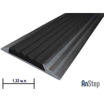 Алюминиевая полоса с резиновой вставкой, 1,33 м