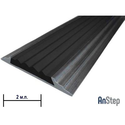 Алюминиевая полоса с резиновой вставкой, 2 м