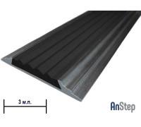Алюминиевая полоса с резиновой вставкой, 3 м
