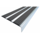 Алюминиевый угол-порог с тройной резиновой вставкой