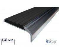 Алюминиевая накладка на ступень с резиновой вставкой, 1,33 м
