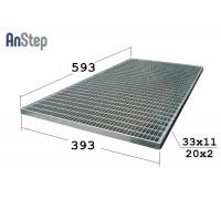 Придверная стальная решетка 400/600