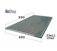 Придверная стальная решетка 500/1000