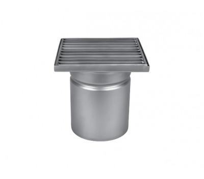 Трап мини 150х150 с вертикальным выпуском ∅ 110мм однокорпусный