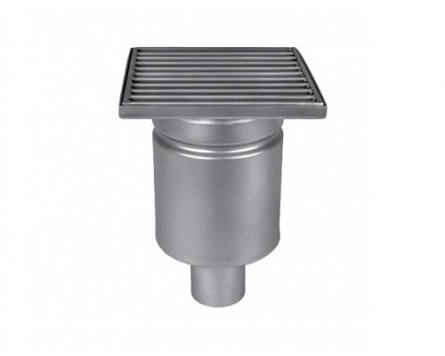 Трап мини 150х150 с вертикальным выпуском ∅ 50мм однокорпусный