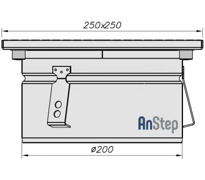 Ревизия/прочистка из нержавеющей стали 250х250 с выпуском 200