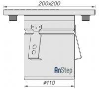 Ревизия/прочистка из нержавеющей стали 200х200 с выпуском 110