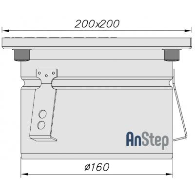 Ревизия/прочистка из нержавеющей стали 200х200 с выпуском 160