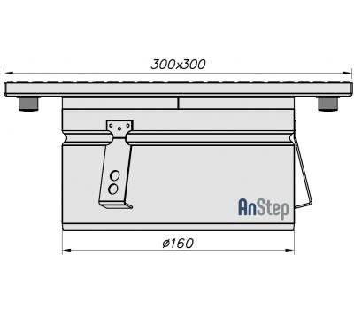 Ревизия/прочистка из нержавеющей стали 300х300 с выпуском 160