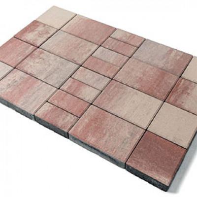 Тротуарная плитка Мозаика Color Mix «Фламинго»